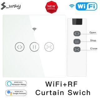S_way, Công Tắc Rèm Thông Minh WiFi AC 100-240V 50 60Hz Với Điều Khiển Từ Xa RF Tuya Smart Life Con Lăn Rèm Cảm Ứng Ứng Dụng Công Tắc Màn Trập thumbnail