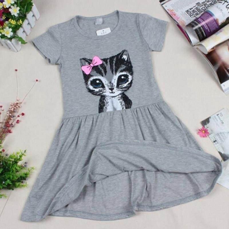 แมวน่ารักฤดูร้อนเด็กเล็กทารกหญิงชุดเจ้าหญิง Nightdress By Emerging Energy.