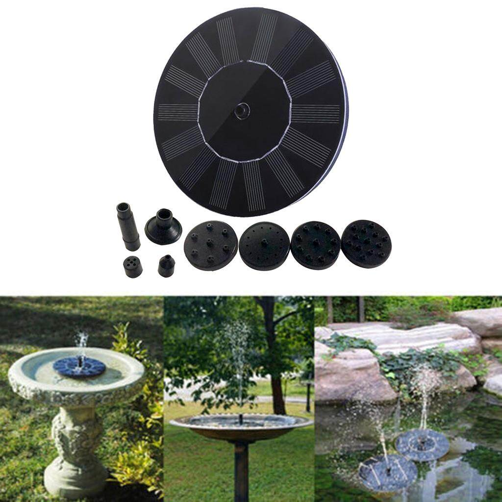 Malonestore Outdoor Solar Powered Bird Bath Water Fountain Pump For Pool Garden Aquarium