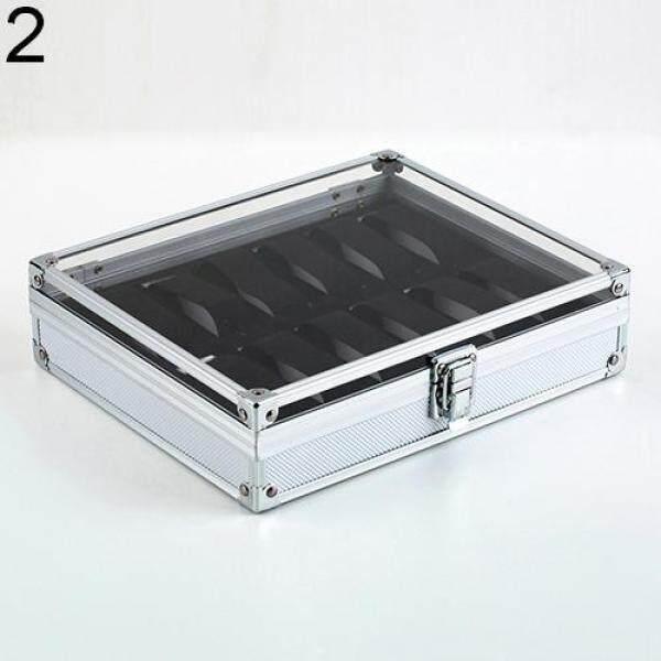 TonyT® Useful 6/12 Grid Slots Jewelry Watches Aluminium Alloy Display Storage Box Case Malaysia