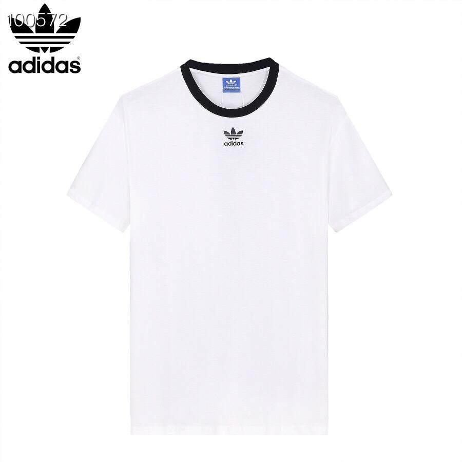 Adidas Clover ชายและหญิงเสื้อยืดครึ่งความยาวแฟชั่นเสื้อยืดแขนสั้นยาว HE7584