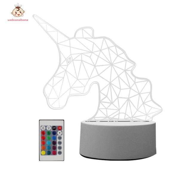 [Hàng Có Sẵn] Đèn Ngủ Động Vật Welcomehome Đèn Ngủ LED Acrylic, 16 Màu Sắc Thay Đổi Với Điều Khiển Từ Xa