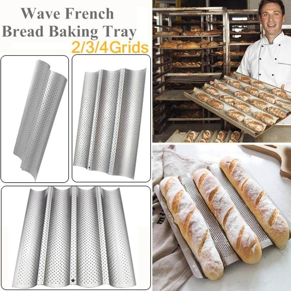 Non-Stick Perforated French Bread Pan Wave Baguette Mold Baking Tools M