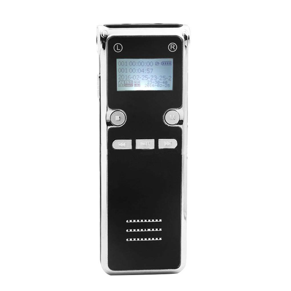 Multifunctional Alloy Shell USB Digital Voice Recorder MP3 Music Player Recording Device Line In Earphone Hole