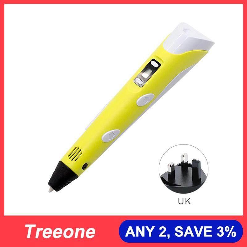 Treeone Digital Display Intelligent 3D Printing Pen High Temperature 3D  Graffiti Painting Pens UK Plug