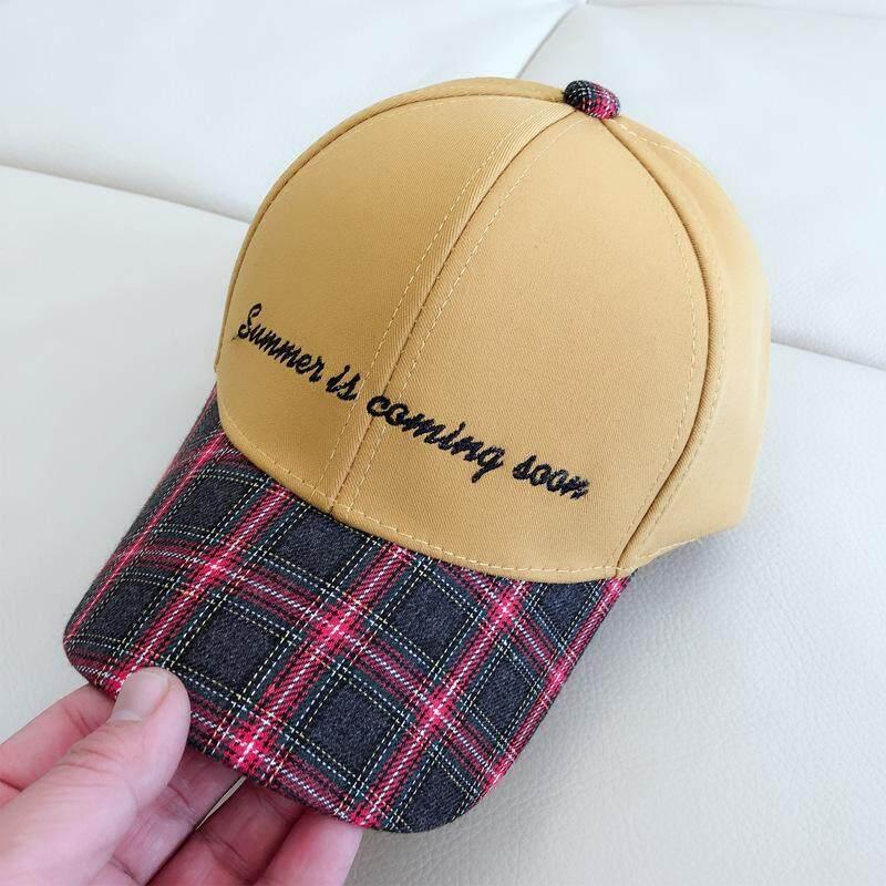 เด็กใหม่หมวกตัวอักษรหมวกแฟชั่นตามธรรมชาติ Match Lattice หมวกเบสบอล Ab48 By Origstuff.