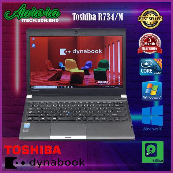 (Refurbished) Laptop Toshiba R734 / M - CPU I5 - 4Th Gen / 4GB DDR3 Ram / 500GB HDD - LCD 13 Inch - 3 Month Warranty Malaysia