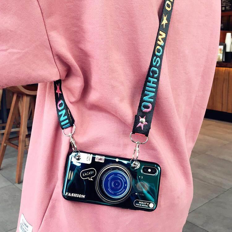Mode Terkini Bluray Casing Ponsel dengan Tempat Ponsel untuk Samsung Galaxy J2 2018 J3pro J5pro J7pro 2017 dengan Adjustable Crossbody Lanyard Soft Cover Penutup Mode untuk Samsung A6S A9 2018 J8 J6 2018