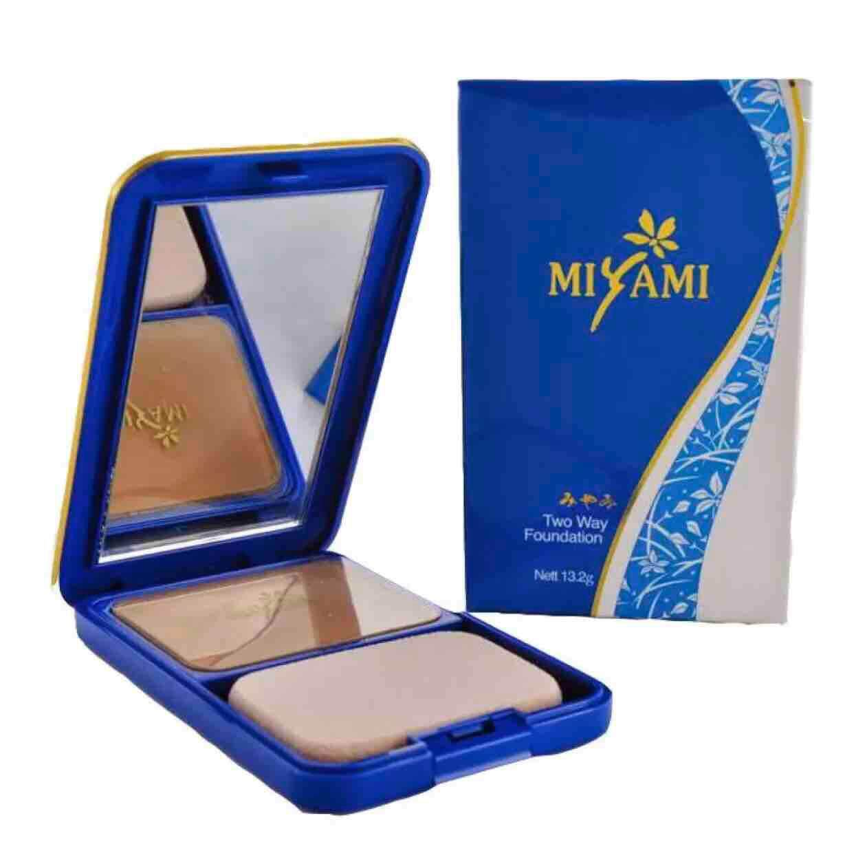 MIYAMI COMPACT POWDER LIGHT AND MEDIUM + FREE GIFT