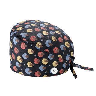 AM Working Cap Sweatband Bouffant Turban Hat Nút Tie Trở Lại Có Thể Điều Chỉnh thumbnail
