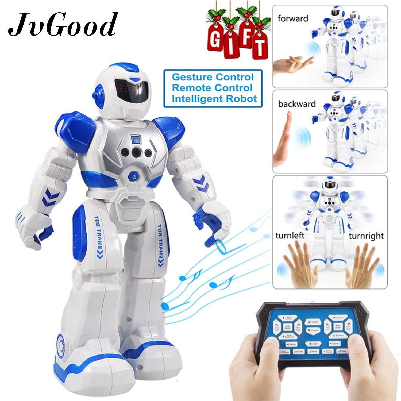 JvGood Robot Toys Alpha Telecontrol Intelligent Robot Remote Control RC Robot Speaking Robot Police Toys Gesture