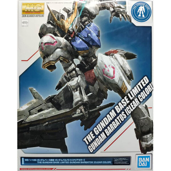 Bandai MG 1/100 Gundam Barbatos [Clear Color] Gundam Base Limited Plastic Model