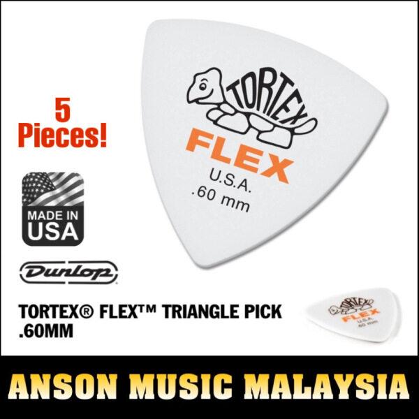 Jim Dunlop Tortex Flex Triangle Pick .60mm, 5 Pieces Malaysia