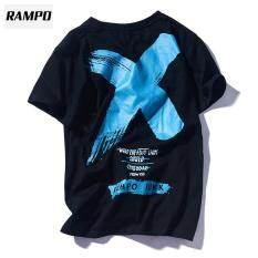 Áo Phông Ngắn Tay RAMPO Cho Nam, Phong Cách Cổ Điển Châu Âu Và Mỹ, Tay Lỡ Cho Sinh Viên Hip-Hop