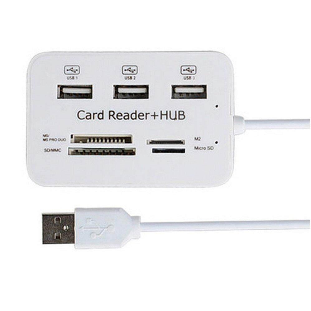 H-MENT USB Hub 3.0 Combo USB Splitter High Speed Type C Hub SD/TF Card Reader