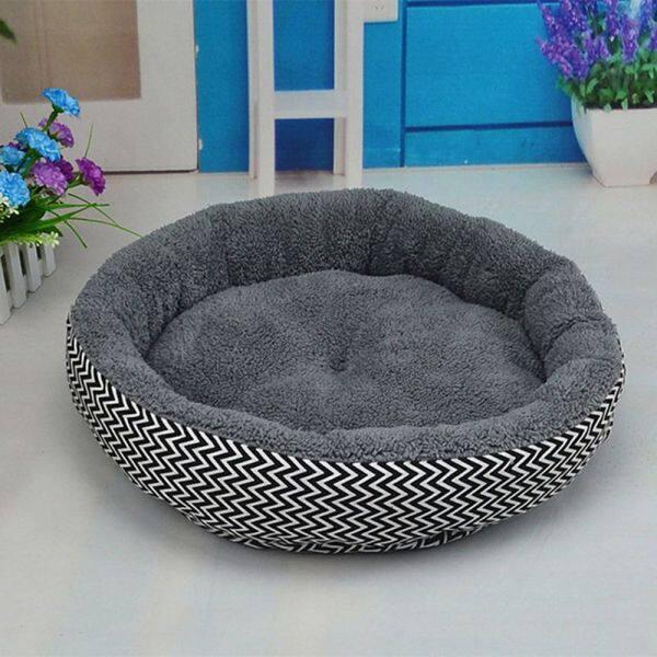 Động Vật Ấm Tổ Tròn Shapd 2 Màu Thời Trang Đang Nổi Mùa Đông Chó Con Thú Cưng Sofa Cũi Nhà Cho Mèo