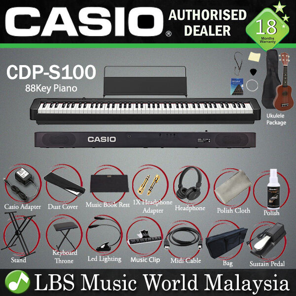 Casio CDP-S100 88 Key Digital Piano Keyboard Portable Package Electric Keys (CDPS100) Malaysia