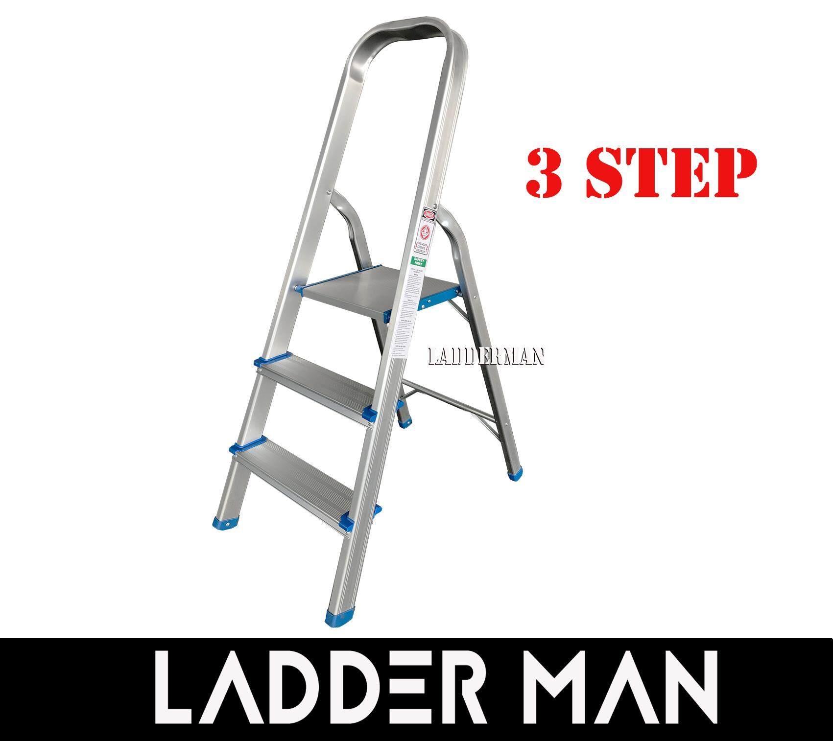 3 STEP FOLDABLE ALUMINIUM STEP STOOL LADDER SAL3
