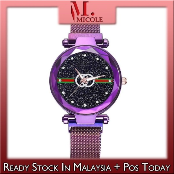 Ready Stock MICOLE G027 Guccci Women Starry Magnetic Buckle Stainless Steel Watch Jam Tangan Wanita Malaysia