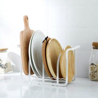 CNMF Carbon Thép Dishrack Bếp Tabletop Đồ Dùng Nhà Bếp Chủ Thớt Pot Cover Lưu Trữ Giá thumbnail