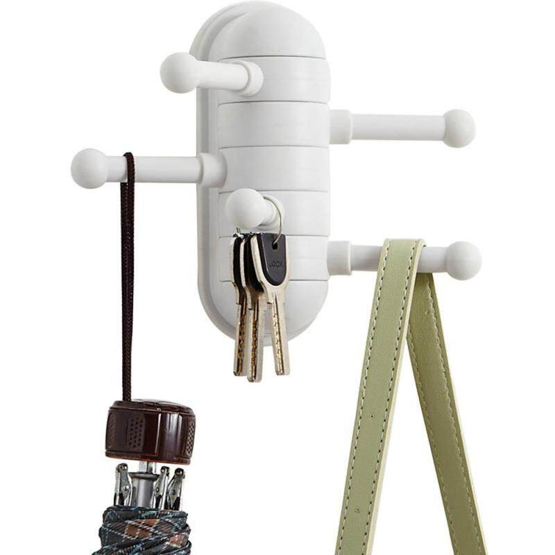 Teekeer Creative Multipurpose Home Wall Mounted Organizer Rack Hanger 5 Hooks