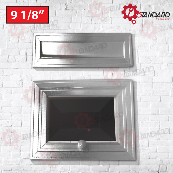 【READY STOCK】Heavy Duty Aluminium Letter Box head and tail 9 1/8 ( 23.5 x 23.5cm ) Front and Back WITH Glass/ 信箱 / 铝信箱