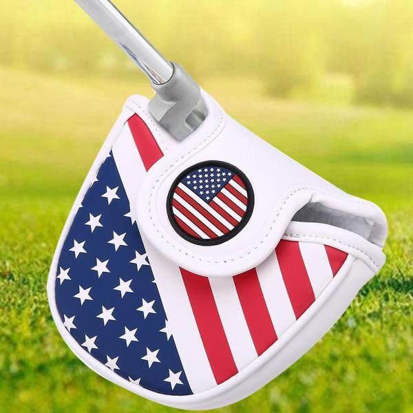 Bọc Đầu Từ Tính Dày Bằng Da PU Bền Dụng Cụ Bảo Vệ Gậy Golf Cầm Tay Phong Cách Cờ Vuông Thông Dụng Putter Bìa