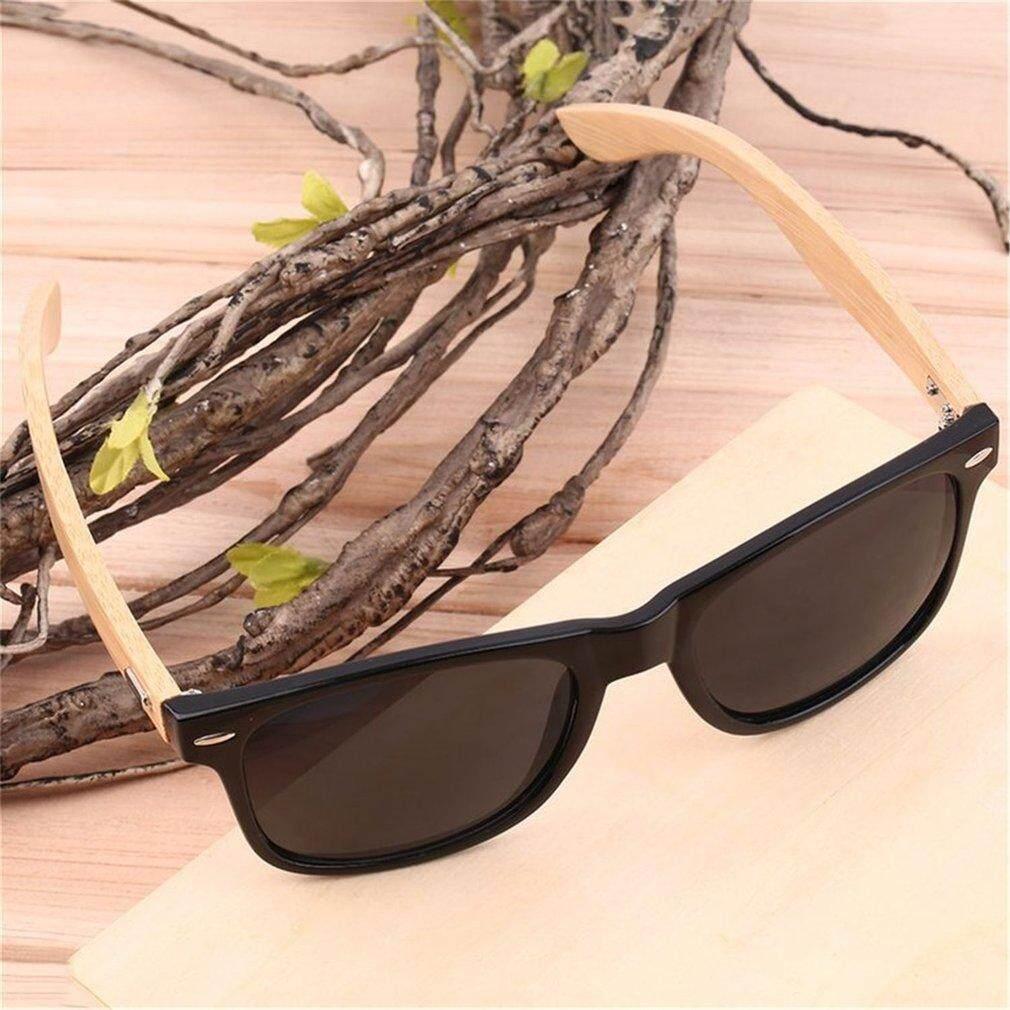 Kacamata Bambu Kayu Pada Musim Panas Kayu Menstruasi Wanita Retro Vintage  Kacamata Terang (Hitam) 81159d6326