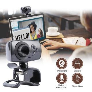 Ajazz Camera Web Có Kẹp Độ Phân Giải Cao USB 8.0 Megapixel 2.0 Có Micro, 3 L-ED, Dành Cho Máy Tính Xách Tay PC Máy Tính Để Bàn thumbnail