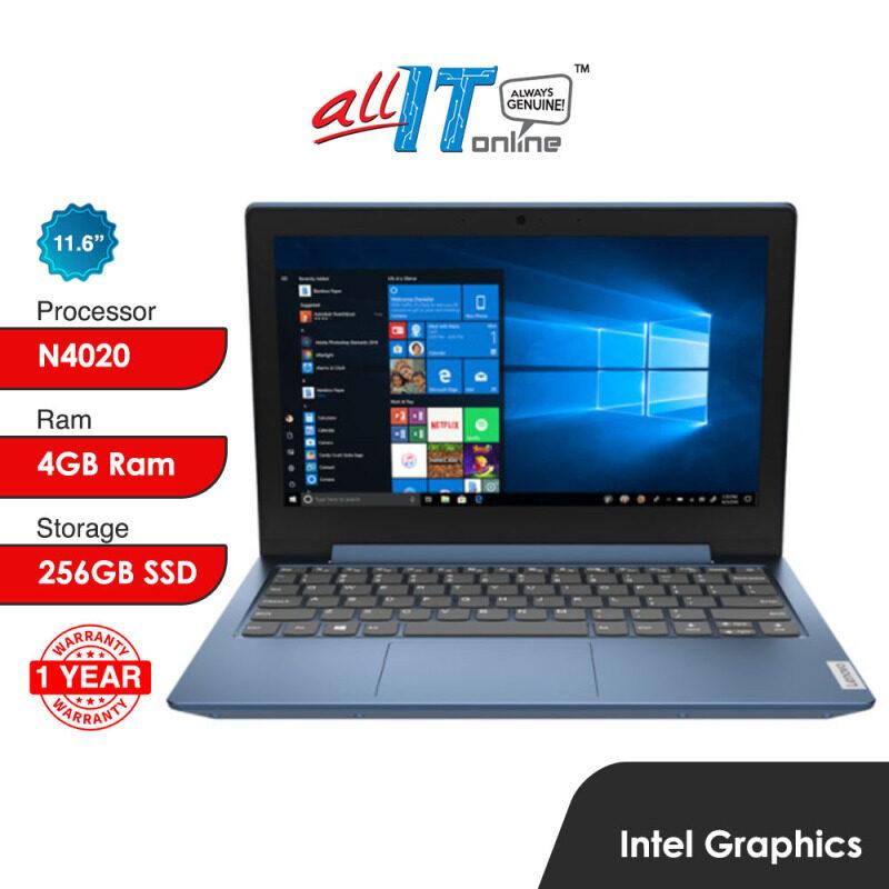 Lenovo IdeaPad 1 11IGL05 81VT003RMJ 11.6 Laptop Ice Blue (Celeron N4020, 4GB, 256GB SSD, Intel, W10H) Malaysia