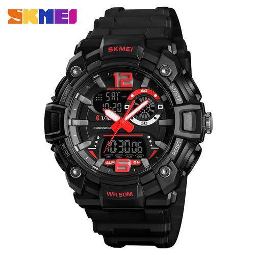 Time beauty SKMEI can set 3 time tough guy black gold multi-function outdoor sports waterproof mens watch Malaysia