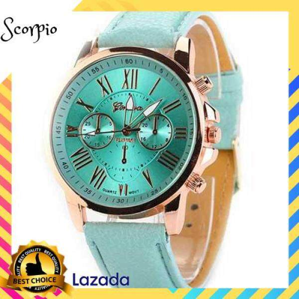BEST SELLER Stylish Women Quartz Watches PU Leather Casual Wristwatch for Ladies Lady Watches Elegance Wristwatches (Green) Malaysia