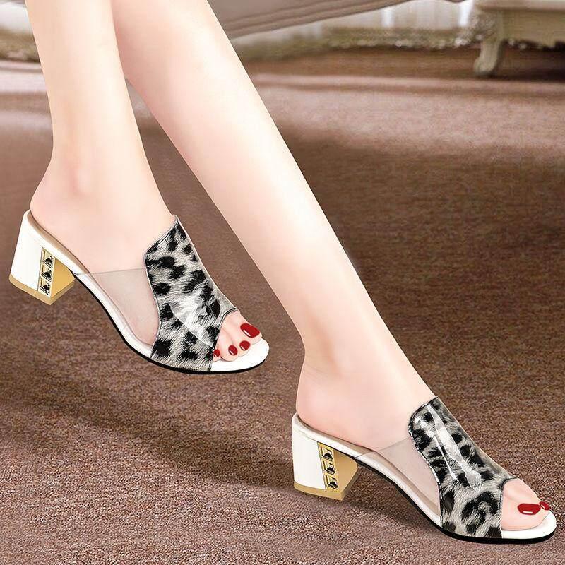 Sandal nữ đế mềm thời trang mùa hè mới giày cao gót trẻ trung phong cách Hàn Quốc đi thường ngày - INTL