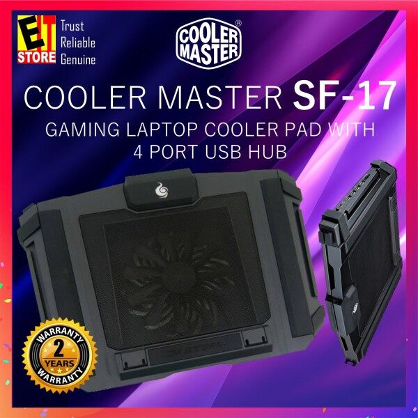 COOLER MASTER SF-17 GAMING LAPTOP COOLER PAD WITH 4 PORT USB HUB (R9-NBC-SF7K-GP) Malaysia