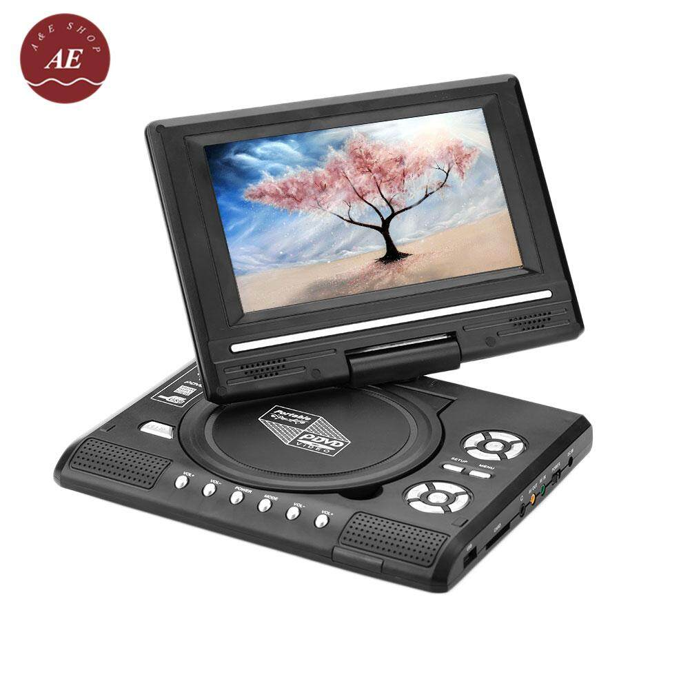 A&e Shop Portable 270° Rotatable Hd 7 Inch 16:9 Lcd Screen Dvd Player Fm Radio Receiver 100-240v (europe Standards) By A&e Shop.
