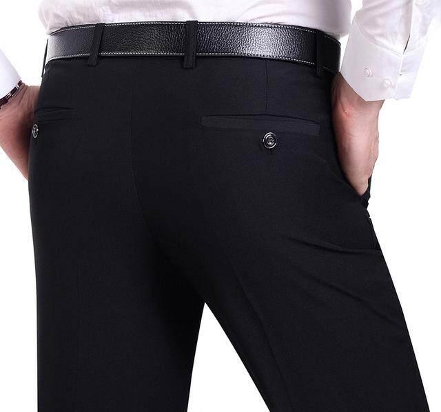 Suit Pants Men Fashion Dress Pants Social Mens Dress Pants Black Formal Suit Pants Business Male Wedding Dress Casual Men Trouse