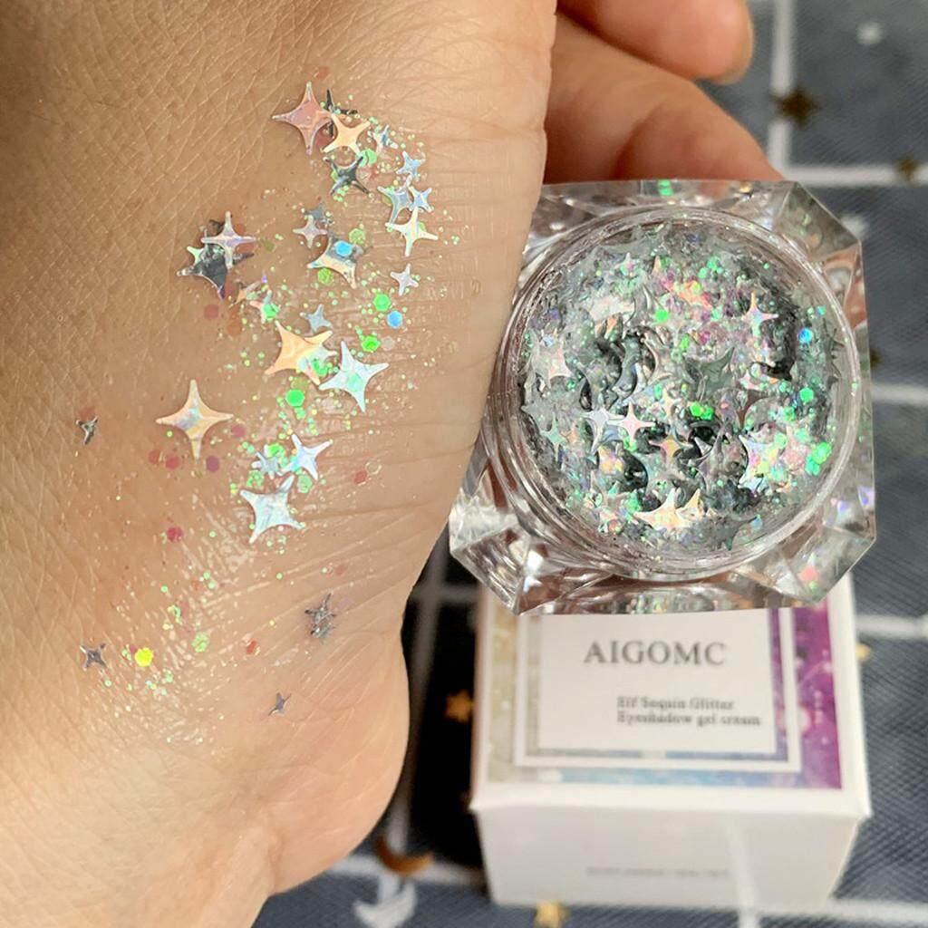 ◆ อายแชโดว์ผงกากเพชรชุดผสมเจล Glitter Eyes แป้งฝุ่น Glitter Eye จัดส่งฟรี