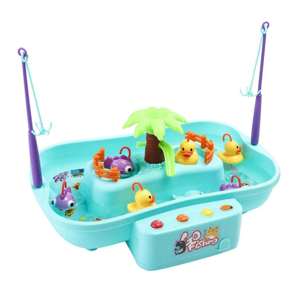 BolehDeals Kids Electric Musical Fishing Toy Set Pretend Role Play Toy