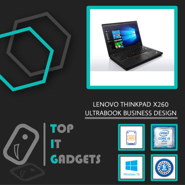 LENOVO THINKPAD X260 ULTRABOOK BUSINESS [ INTEL CORE I5 6TH GEN SKYLAKE / 8GB DDR4 RAM / 256GB SSD STORAGE / WINDOW 10 PRO GENUINE ] 6 MONTHS WARRANTY [ LAPTOP ] Malaysia