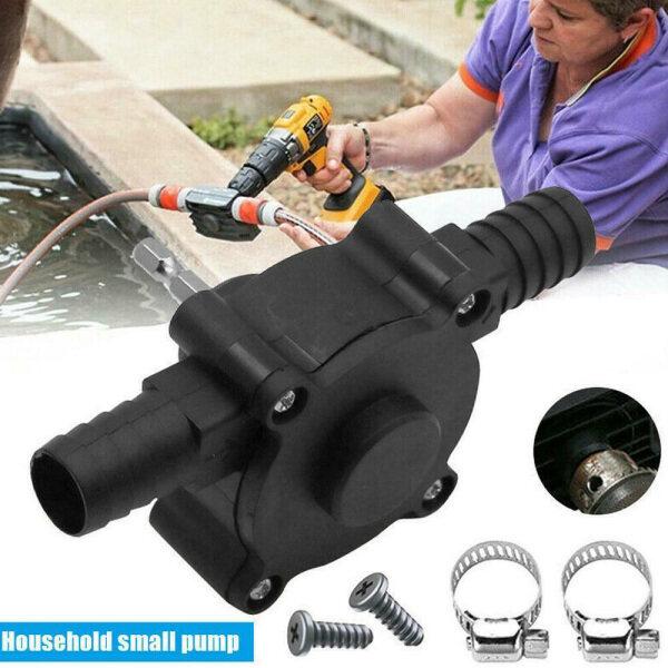 BRZ05 Portable Heavy Duty Oil Liquid Garden Outdoor Water Pump Self Priming Electric Drill Pump Transfer Pump