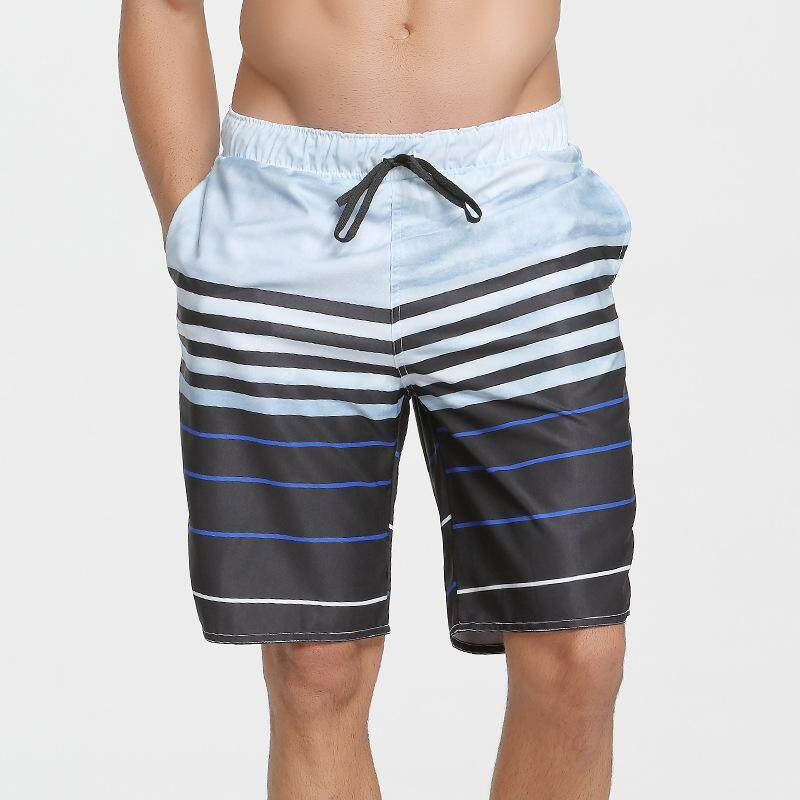 8976250fd6685 Men's Quick-drying Beach Pants Loose Printed Beach Swim Trunks Hot Spring Swimming  Short