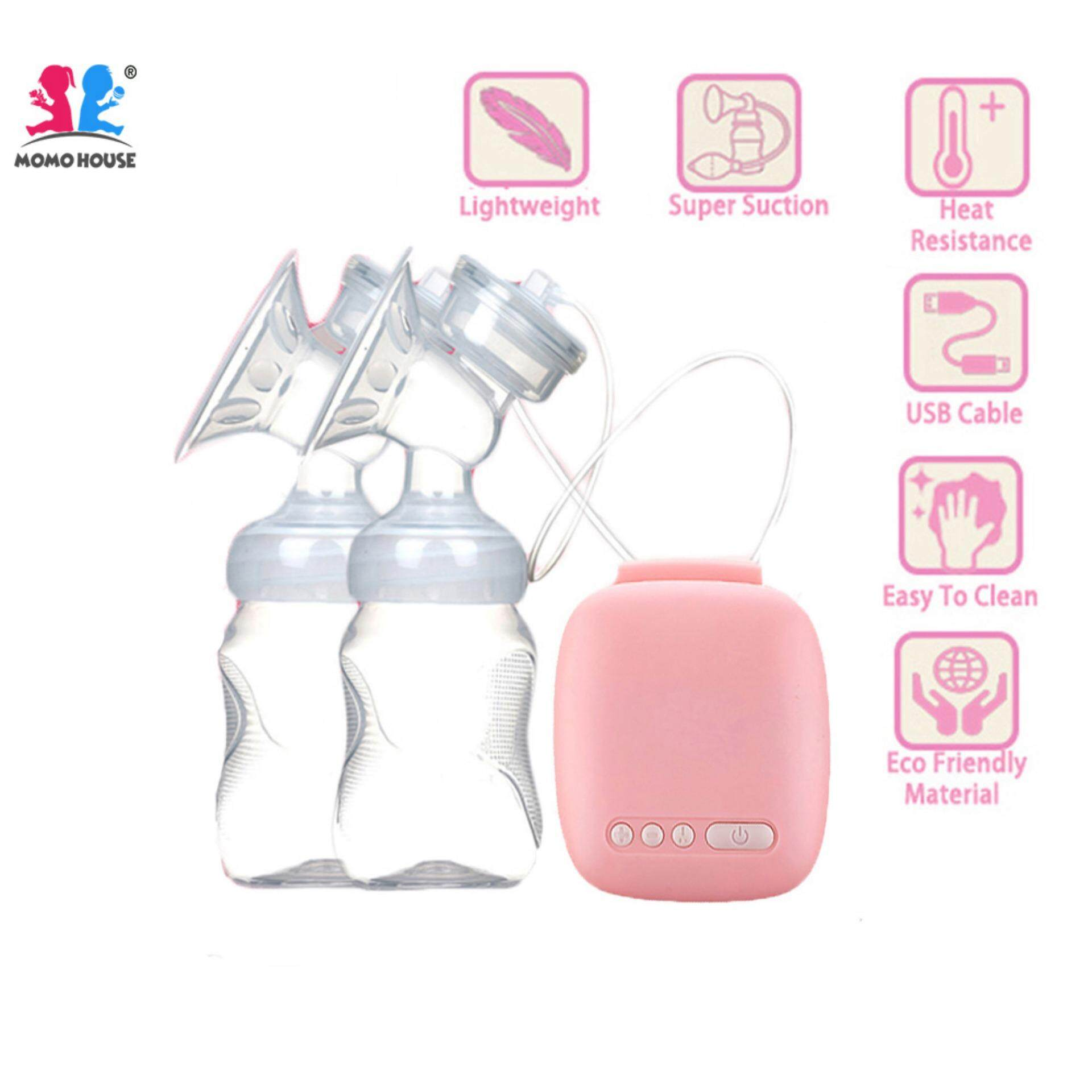 Momo House Electric Double Breast Pump Breastpump - Supur Suction & Massage [delivery In 1-3 Working Day] - Sale By Momo House.