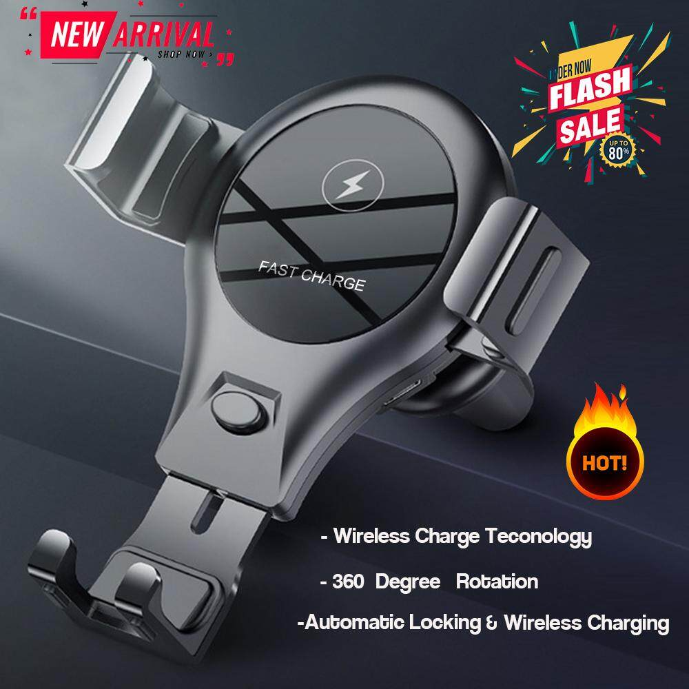 Qi Car Wireless Charger For Iphone Xs Max Xr X Samsung S10 S9 Intelligent Infrared Fast Wireless Charging Car Phone Holder By Peedimall.