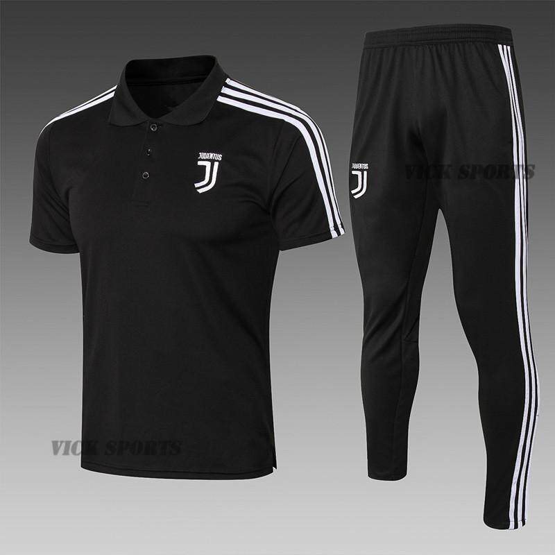 1598346e6c0 2019 Newest Juventus Black Football Jersey Polo Short Sleeve T-shirt  Training Wear Sportswear and Cropped trousers Pants Suit Running suit  Leisure ...