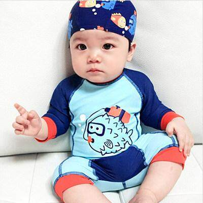 Baby Swimsuit Boys Siamese Boy Baby Baby Quick Dry Surfing Swimsuit Swimwear Clothing By Wanggaigai.