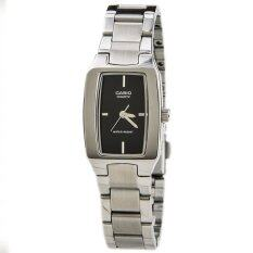 Casio ENTICER LTP-1165A-1C Silver Black Stainless Steel Band Watch Ladies Analog Malaysia