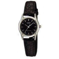 Casio LTP-1094E-1A Black Genuine Leather Strap Band Watch Ladies Analog Malaysia