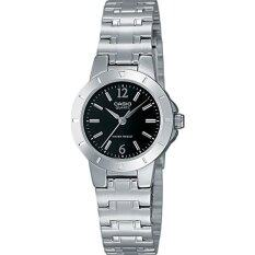 Casio LTP-1177A-1A Silver Black Stainless Steel Band Watch Ladies Analog Malaysia