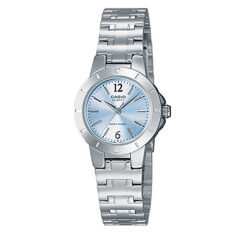 Casio LTP-1177A-2A Silver Blue Stainless Steel Band Watch Ladies Analog Malaysia