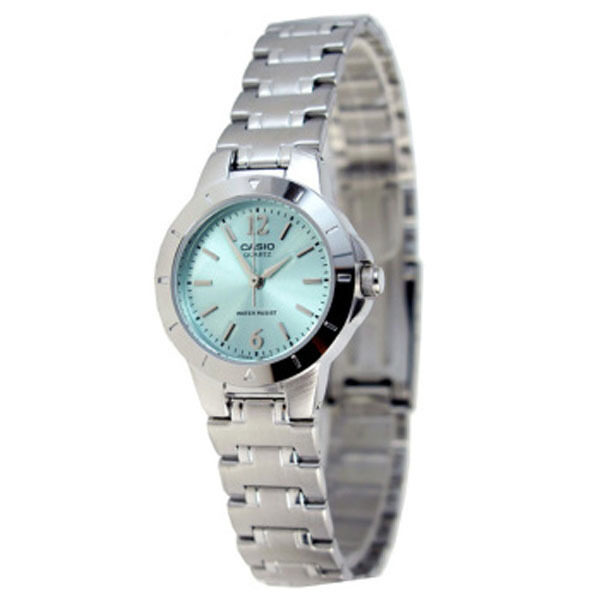 Casio LTP-1177A-3A Silver Green Stainless Steel Band Watch Ladies Analog Malaysia